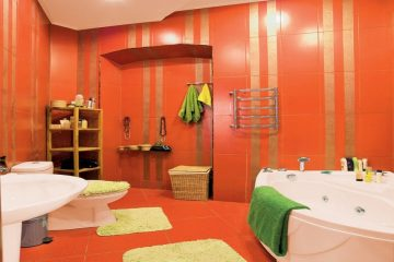 апельсиновый цвет в ванной